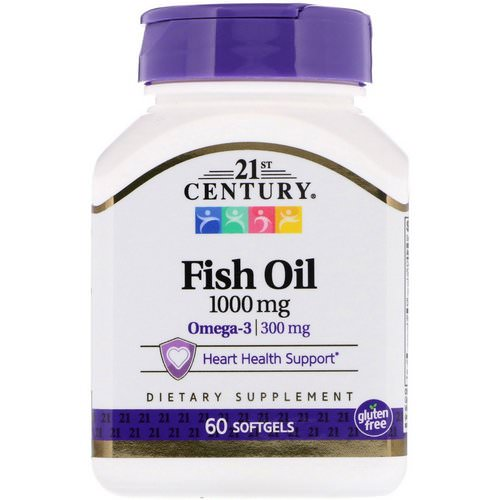 21st Century, Fish Oil, 1000 mg, 60 Softgels Review