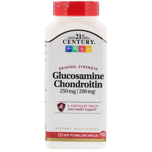 21st Century, Glucosamine 250 mg Chondroitin 200 mg Original Strength, 120 Easy to Swallow Capsules Review