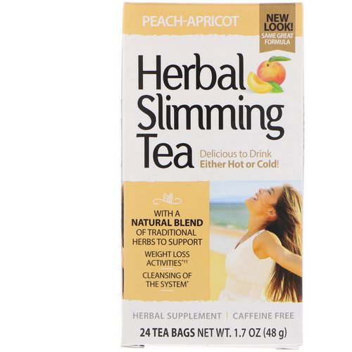 21st Century, Herbal Slimming Tea, Peach-Apricot, Caffeine Free, 24 Tea Bags, 1.6 oz (45 g) Review