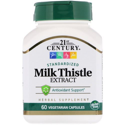 21st Century, Milk Thistle Extract, Standardized, 60 Vegetarian Capsules Review