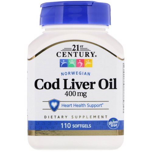 21st Century, Norwegian Cod Liver Oil, 400 mg, 110 Softgels Review