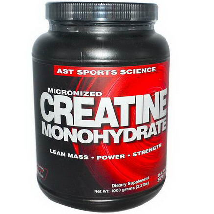 AST Sports Science, Micronized Creatine Monohydrate, 2.2 lbs (1000g)