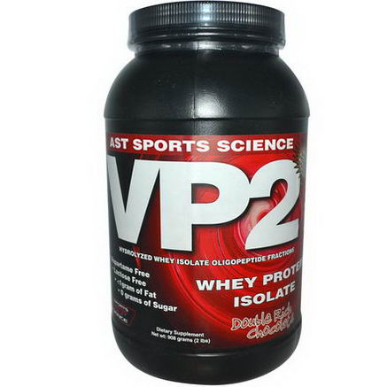 AST Sports Science, VP2, Whey Protein Isolate, Double Rich Chocolate, 2 lbs (908g)