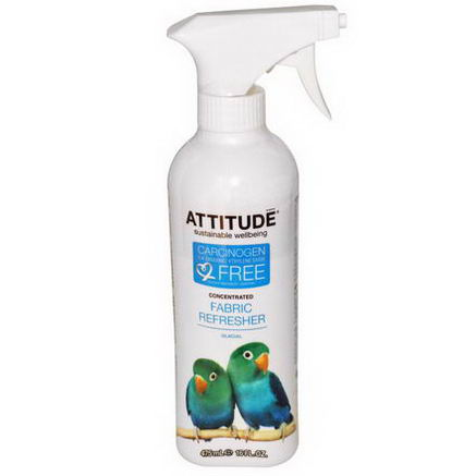 ATTITUDE, Concentrated Fabric Refresher, Glacial, 16 fl oz (475 ml)