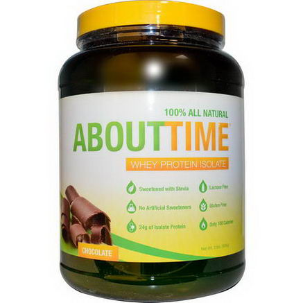 About Time, Whey Protein Isolate, Chocolate, 2 lbs (908g)