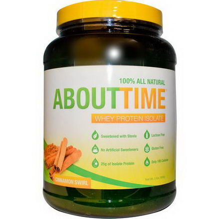 About Time, Whey Protein Isolate, Cinnamon Swirl, 2 lbs (908g)