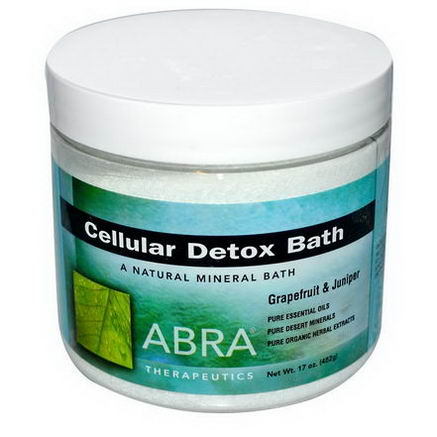 Abra Therapeutics, Cellular Detox Bath, Grapefruit & Juniper, 17oz (482g)