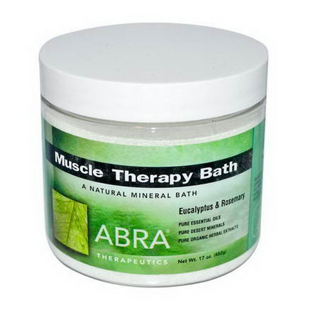 Abra Therapeutics, Muscle Therapy Bath, Eucalyptus & Rosemary, 17oz (482g)