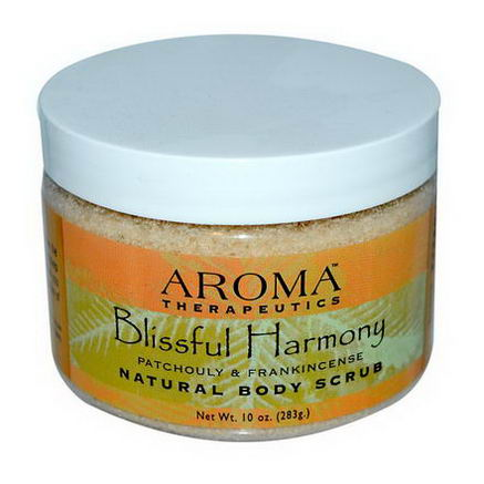 Abra Therapeutics, Natural Body Scrub, Blissful Harmony, Patchouli and Frankincense, 10oz (283g)