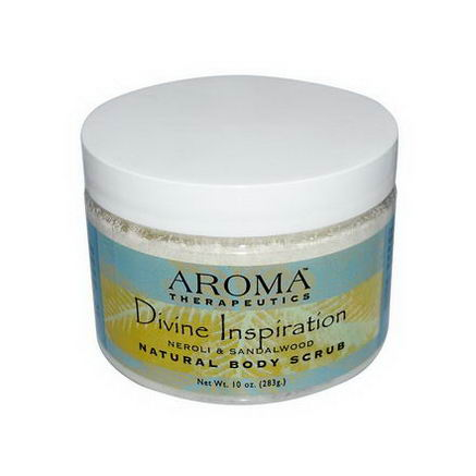 Abra Therapeutics, Natural Body Scrub, Divine Inspiration, Neroli & Sandalwood, 10oz (283g)