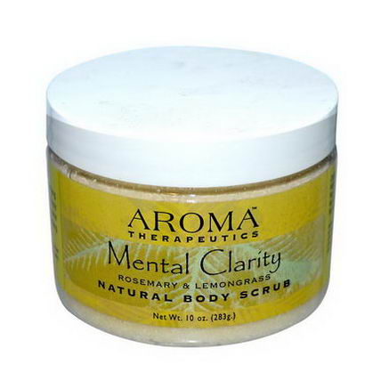 Abra Therapeutics, Natural Body Scrub, Mental Clarity, Rosemary & Lemongrass, 10oz (283g)