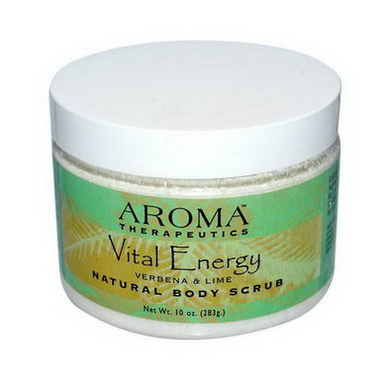 Abra Therapeutics, Natural Body Scrub, Vital Energy, Verbena & Lime, 10oz (283g)