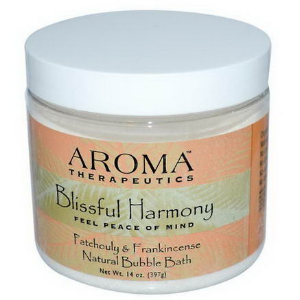 Abra Therapeutics, Natural Bubble Bath, Blissful Harmony, Patchouli & Frankincense, 14oz (397g)