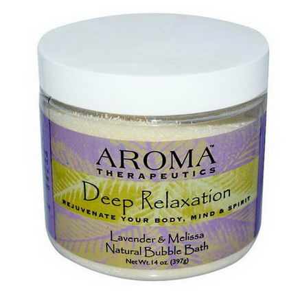 Abra Therapeutics, Natural Bubble Bath, Deep Relaxation, Lavender and Melissa, 14oz (397g)