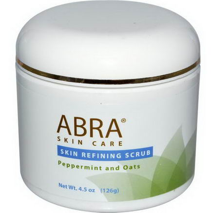 Abra Therapeutics, Skin Refining Scrub, Peppermint and Oats, 4.5oz (126g)