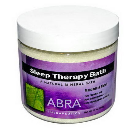 Abra Therapeutics, Sleep Therapy Bath, Mandarin & Neroli, 17oz (482g)