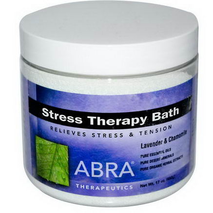 Abra Therapeutics, Stress Therapy Bath, Lavender & Chamomile, 17oz (482g)
