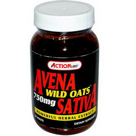Action Labs, Avena Sativa, Wild Oats, 750mg, 50 Tablets