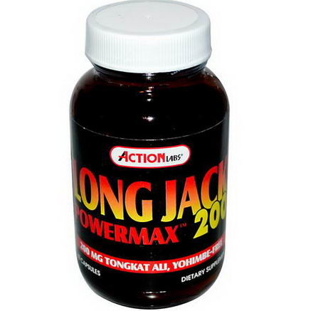 Action Labs, Long Jack PowerMax 200, 60 Capsules