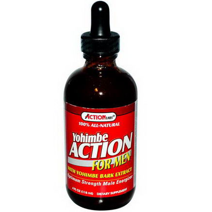 Action Labs, Yohimbe Action, For Men, 4 fl oz (118 ml)