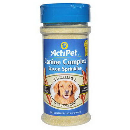 Actipet, Canine Complex Bacon Sprinkles, Powder, 160g