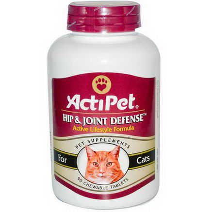 Actipet, Hip & Joint Defense, For Cats, Natural Beef & Tuna Flavor, 90 Chewable Tablets