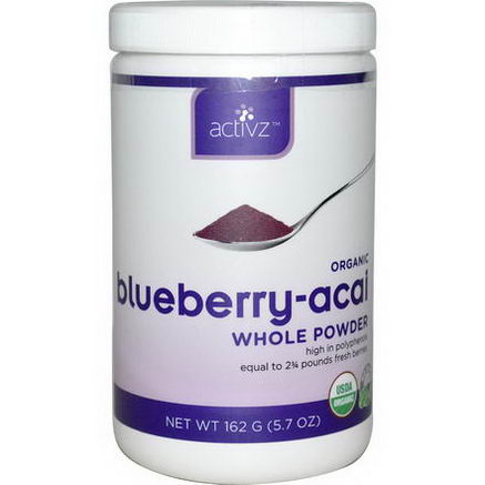 Activz, Organic Blueberry-Acai Whole Powder, 5.7oz (162g)
