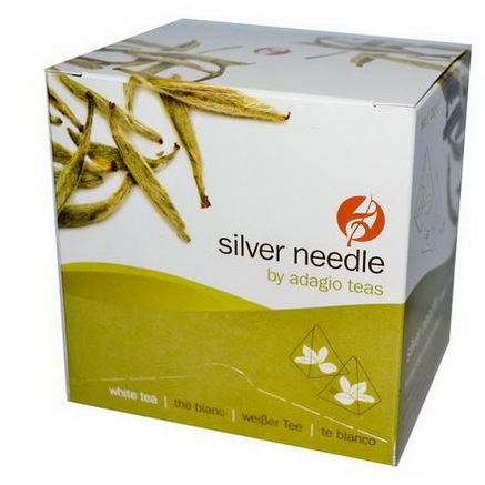 Adagio, Silver Needle, White Tea, 15 Pyramid Bags, 8oz (23g) Each