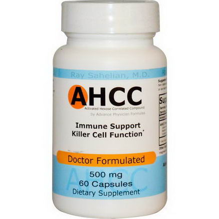 Advance Physician Formulas, Inc. AHCC (Activated Hexose Correlated Compound), 500mg, 60 Capsules