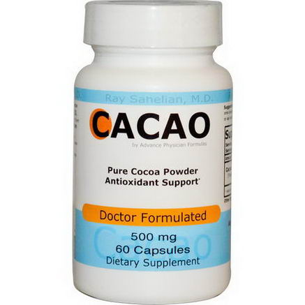 Advance Physician Formulas, Inc. Cacao, 500mg, 60 Capsules