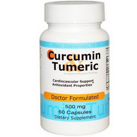 Advance Physician Formulas, Inc. Curcumin Tumeric, 500mg, 60 Capsules