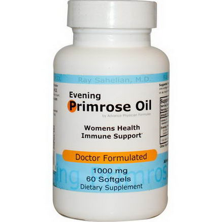 Advance Physician Formulas, Inc. Evening Primrose Oil, 1000mg, 60 Softgels