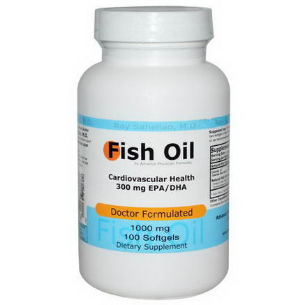 Advance Physician Formulas, Inc. Fish Oil, 1000mg, 100 Softgels