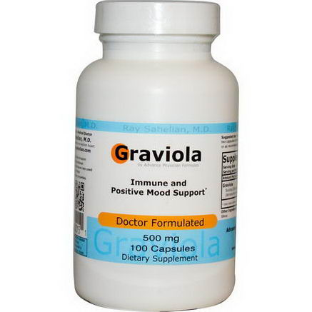 Advance Physician Formulas, Inc. Graviola, 500mg, 100 Capsules