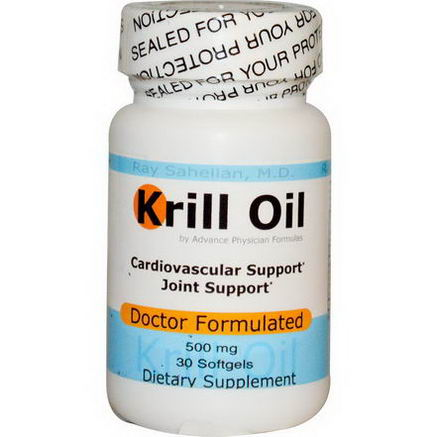 Advance Physician Formulas, Inc. Krill Oil, 500mg, 30 Softgels