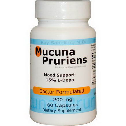 Advance Physician Formulas, Inc. Mucuna Pruriens, 200mg, 60 Capsules