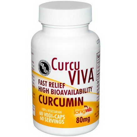 Advanced Orthomolecular Research AOR, CurcuViva, Curcumin, 80mg, 60 Veggie Caps