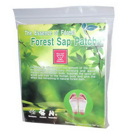 African Red Tea Imports, The Essence of Forest, Forest Sap Patch, 10 Detox Pads