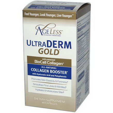 Ageless Foundation Laboratories, UltraDerm Gold, Collagen Booster, 60 Capsules