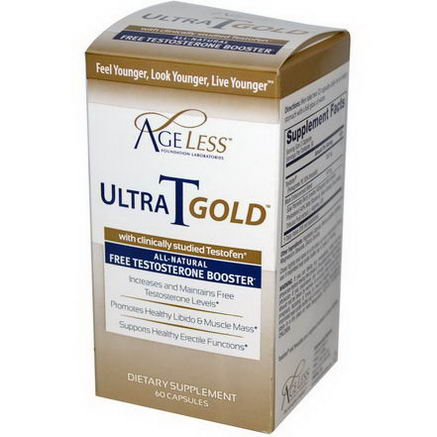 Ageless Foundation Laboratories, UltraTGold, 60 Capsules