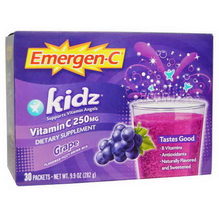 Alacer, Emergen-C Kids, Grape, 30 Packets, 9.4g Each