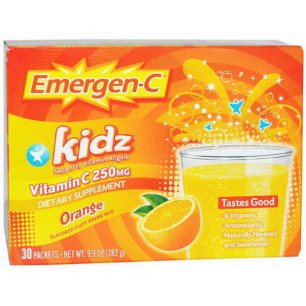 Alacer, Emergen-C Kidz, Orange, 30 Packets, 9.9oz (282g)
