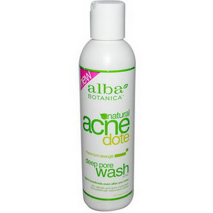 Alba Botanica, Natural Acne Dote, Deep Pore Wash, Oil-Free, 6 fl oz (177 ml)