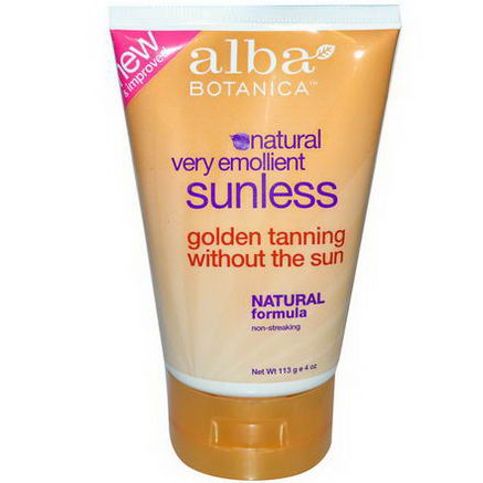 Alba Botanica, Natural Very Emollient, Sunless Tanning Lotion, 4oz (113g)