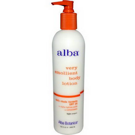 Alba Botanica, Very Emollient Body Lotion, Daily Shade Formula, SPF 16, 12 fl oz (350 ml)