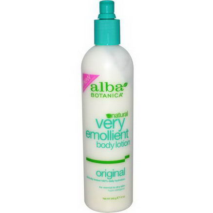 Alba Botanica, Very Emollient Body Lotion, Original, 12oz (340g)