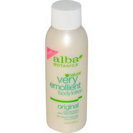 Alba Botanica, Very Emollient Natural Body Lotion, Original, 2oz (57g)