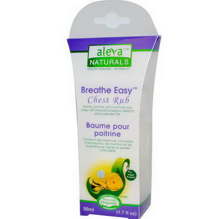 Aleva Naturals, Breathe Easy Chest Rub, 1.7 fl oz (50 ml)