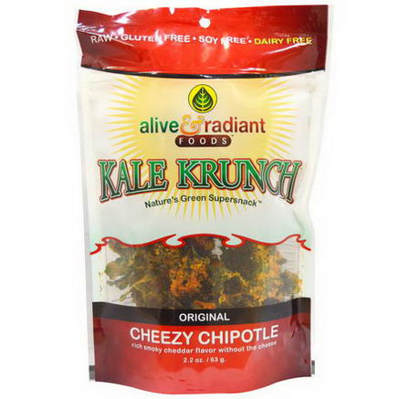 Alive & Radiant, Kale Krunch, Cheezy Chipotle, 2.2oz (63g)