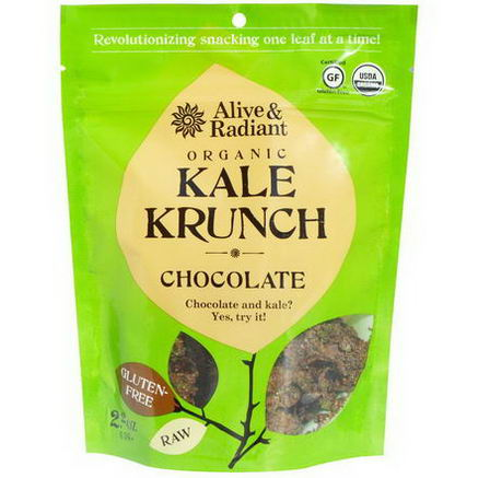 Alive & Radiant, Organic Kale Krunch, Chocolate, 2.2oz (63g)
